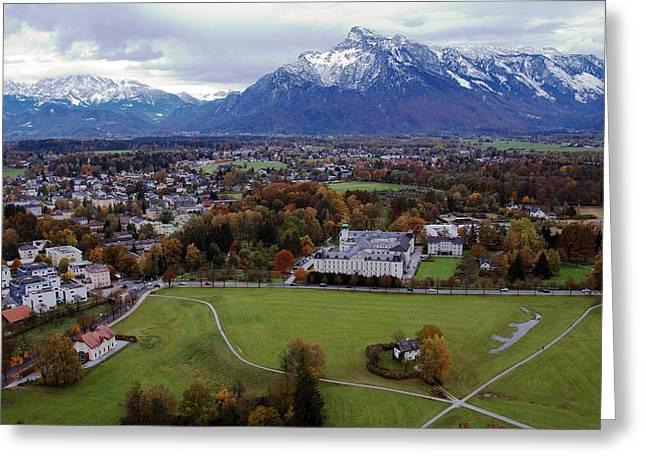Salzburg Greeting Cards - Alpine Vista Greeting Card by Anthony Citro