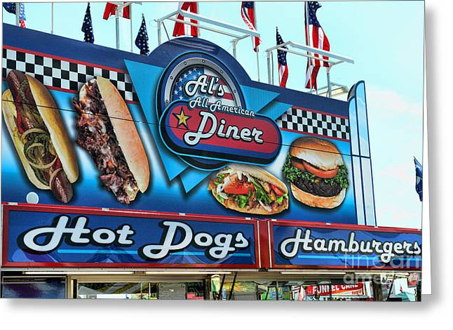 American Food Greeting Cards - Als All American Diner Greeting Card by Paul Ward