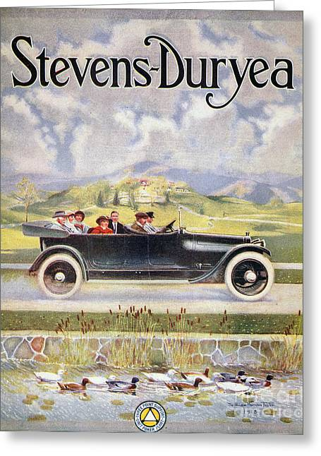 American Automobiles Greeting Cards - Alstevens-duryea Ad, 1914 Greeting Card by Granger