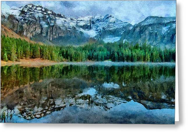 Alta Lakes Reflection Greeting Card by Jeff Kolker