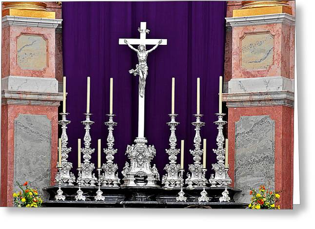Altar Dresdener Hofkirche Greeting Card by Christine Till