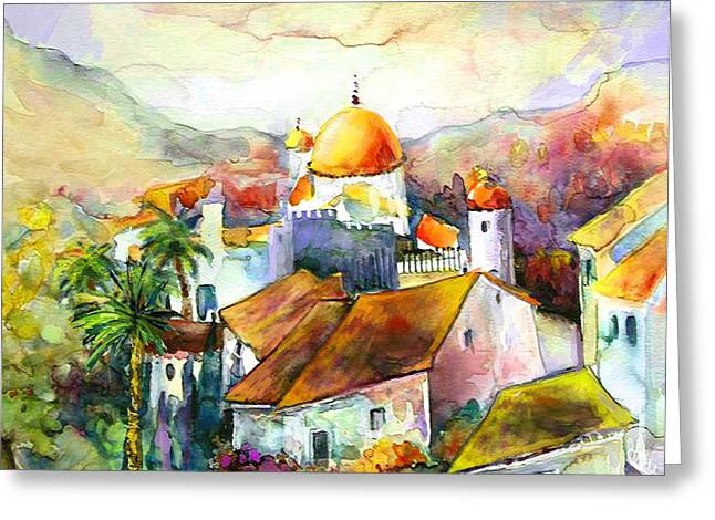 Costa Blanca Greeting Cards - Altea La Vieja in Spain 02 Greeting Card by Miki De Goodaboom