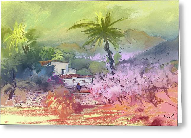 Costa Blanca Greeting Cards - Altea La Vieja in Spain 09 Greeting Card by Miki De Goodaboom