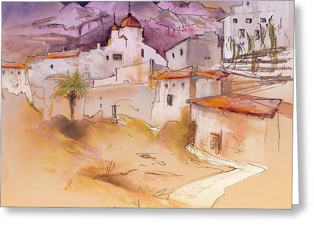 Costa Blanca Greeting Cards - Altea La Vieja in Spain 11 Greeting Card by Miki De Goodaboom
