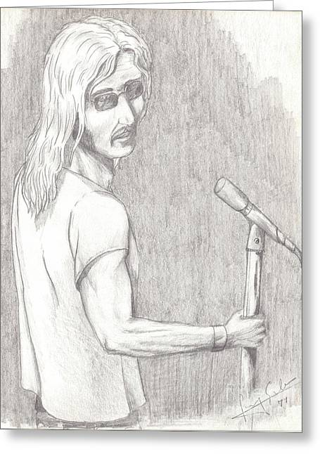 Bands On Stage Drawings Greeting Cards - Alter Ego Greeting Card by Larry Eiler