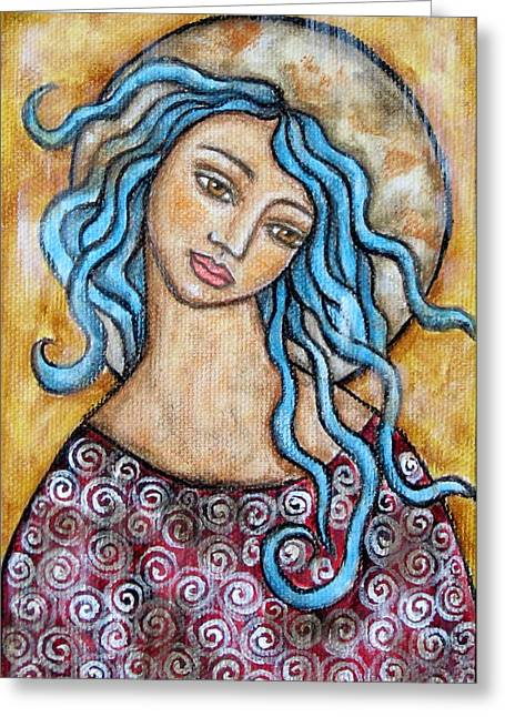 Religious Art Paintings Greeting Cards - Altessa Greeting Card by Rain Ririn
