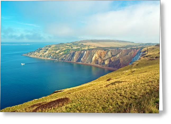 Summer Squall Greeting Cards - Alum Bay - Isle of Wight Greeting Card by Michael Stretton