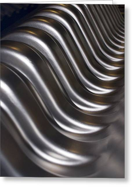 Tech-art Greeting Cards - Aluminium Wave Greeting Card by Mark Williamson