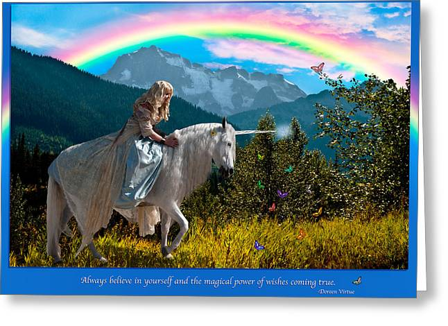 Equine Greeting Cards - Always Believe Greeting Card by Diane C Nicholson