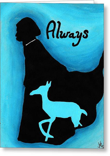 Amazing Drawings Greeting Cards - Always Doe in Snape Greeting Card by Jera Sky