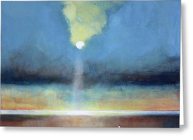 Moon Beach Greeting Cards - Always Hopeful Greeting Card by Toni Grote