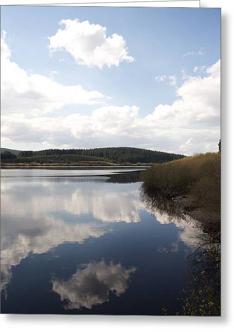 Welsh Reservoirs Greeting Cards - Alwen reservoir  Greeting Card by Christopher Rowlands