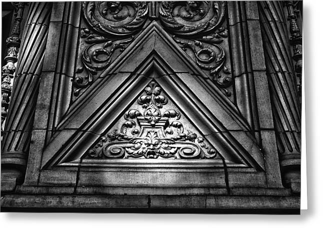 Alwyn Court Building Detail 13 Greeting Card by Val Black Russian Tourchin