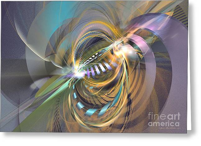 Interior Still Life Mixed Media Greeting Cards - Amadeus - abstract art Greeting Card by Abstract art prints by Sipo