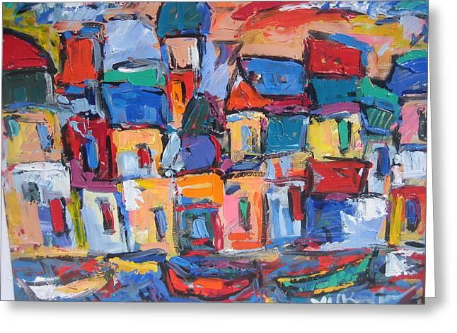 Amalfi 06 Greeting Card by Len Yurovsky