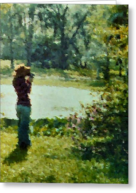 Picture Hat Greeting Cards - Amateur 1973 Greeting Card by Kristin Elmquist