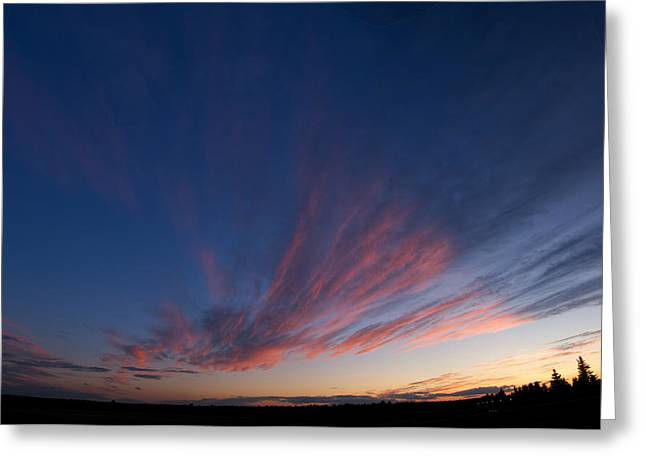 Amazing Sunset Greeting Cards - Amazing Clouds 2 Edmonton Greeting Card by David Kleinsasser