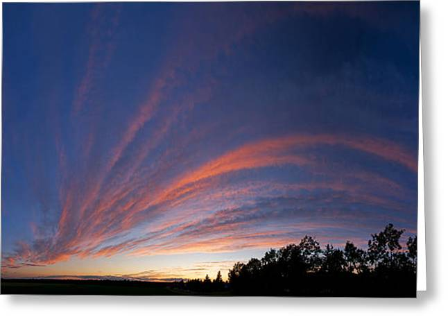 Edmonton Greeting Cards - Amazing Clouds Edmonton Greeting Card by David Kleinsasser