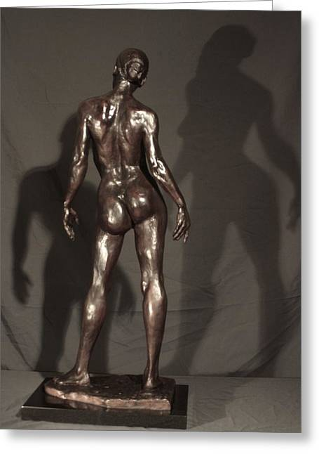 African-americans Sculptures Greeting Cards - Amazing Grace back view Greeting Card by Dan Earle