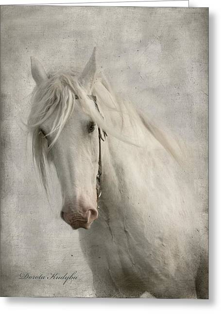 Equestrian Digital Art Greeting Cards - Amazing Grace Greeting Card by Dorota Kudyba