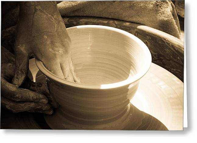 Master Potter Greeting Cards - Amazing hands III Greeting Card by Emanuel Tanjala