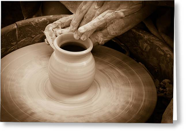 Master Potter Greeting Cards - Amazing hands IV Greeting Card by Emanuel Tanjala