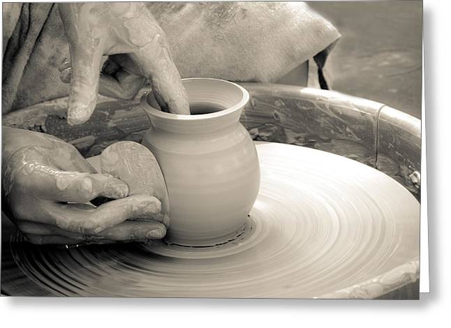 Master Potter Greeting Cards - Amazing hands VI Greeting Card by Emanuel Tanjala