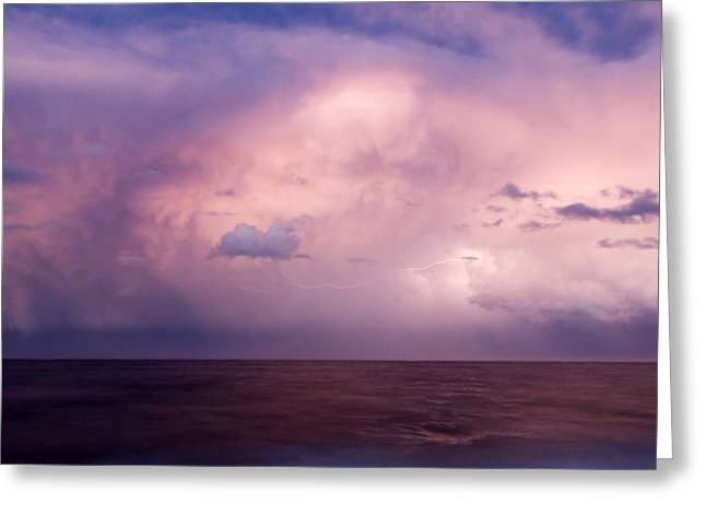 Thunderstorm Greeting Cards - Amazing Skies Greeting Card by Stylianos Kleanthous