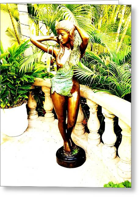 Eve Sculptures Greeting Cards - Amazon Beauty Greeting Card by Unique Consignment