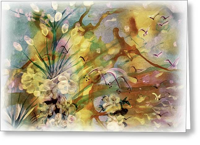 Designers Choice Mixed Media Greeting Cards - Amazon Painting Greeting Card by Don Wright
