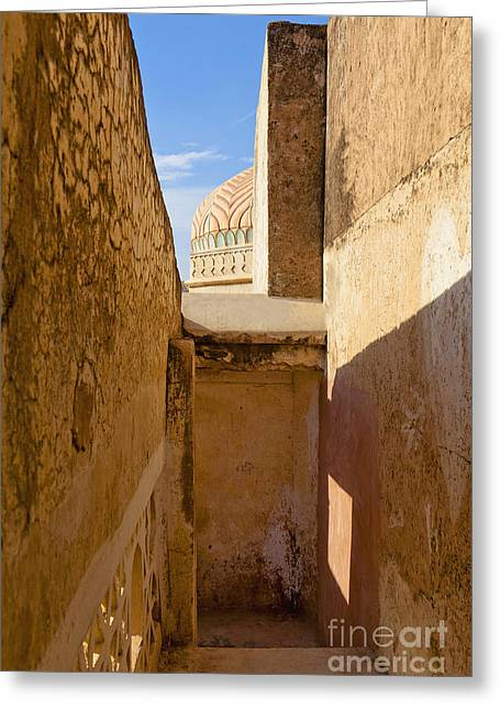 Amber Fort Stairway Greeting Card by Inti St. Clair