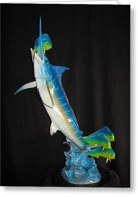 Game Sculptures Greeting Cards - Ambush Greeting Card by John Townsend