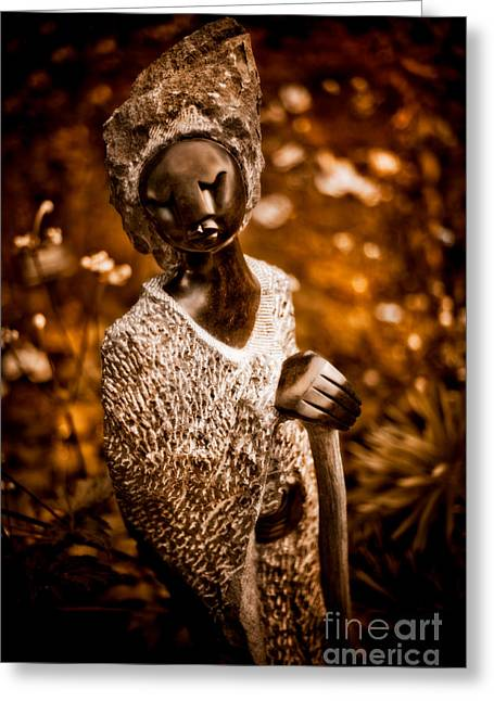 Zimbabwe Greeting Cards - Ambuya Grandmother Greeting Card by Venetta Archer