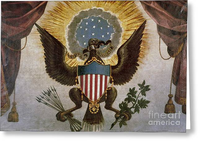 America - Great Seal Greeting Card by Granger