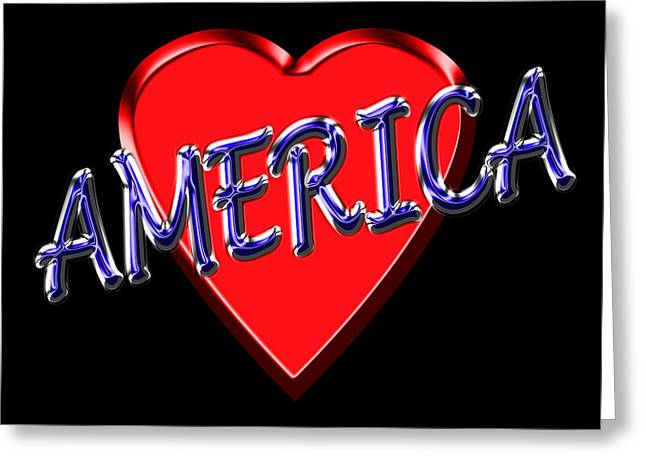 I Love America Greeting Cards - America Greeting Card by Andrew Fare