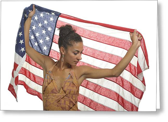 African-american Photographs Greeting Cards - America Greeting Card by Christian Heeb