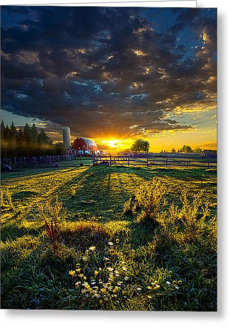Red Photographs Greeting Cards - America Greeting Card by Phil Koch