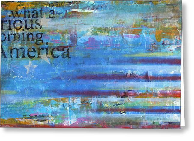Sean Hagan Greeting Cards - America Greeting Card by Sean Hagan