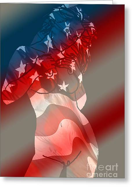 Independance Greeting Cards - America Greeting Card by Tbone Oliver