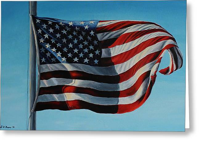 America the Beautiful Greeting Card by Daniel W Green