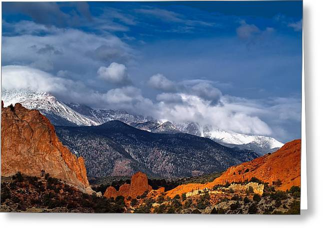Colorado Landscapes Greeting Cards - America The Beautiful Greeting Card by Tim Reaves