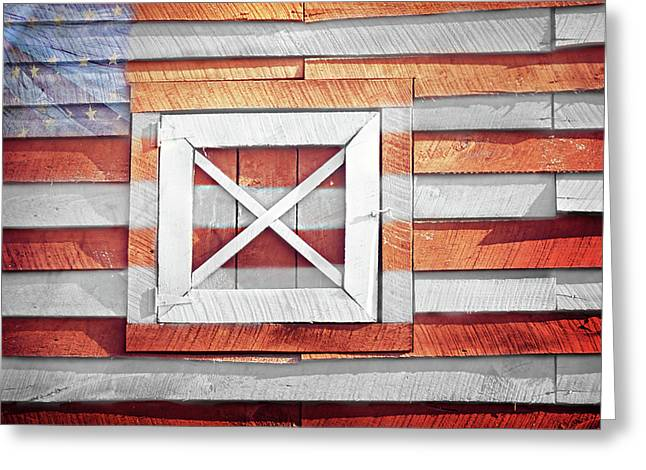 Purchase Greeting Cards - American Barn Greeting Card by Steven  Michael