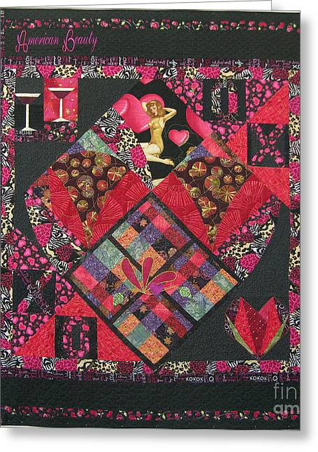 Gift Tapestries - Textiles Greeting Cards - American Beauty Greeting Card by Salli McQuaid