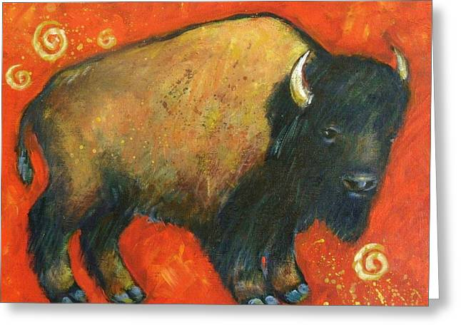 American Bison Greeting Cards - American Bison Greeting Card by Carol Suzanne Niebuhr