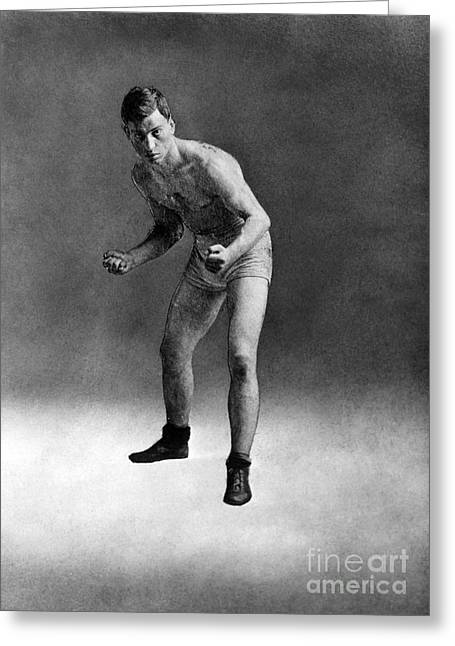Leach Greeting Cards - AMERICAN BOXER, c1910 Greeting Card by Granger