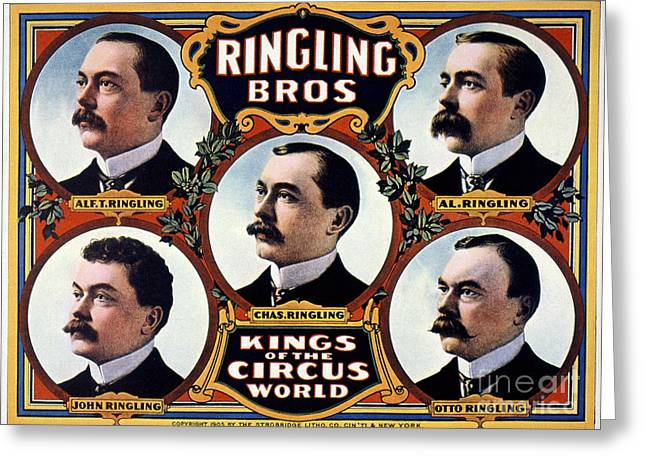 Ringling Brothers Greeting Cards - American Circus Poster Greeting Card by Granger