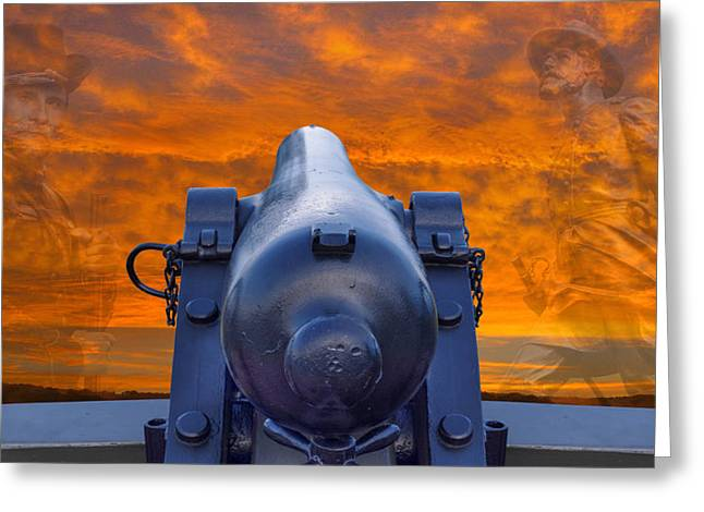 Brigade Greeting Cards - American Civil War Back in Time Sunset Greeting Card by Randy Steele