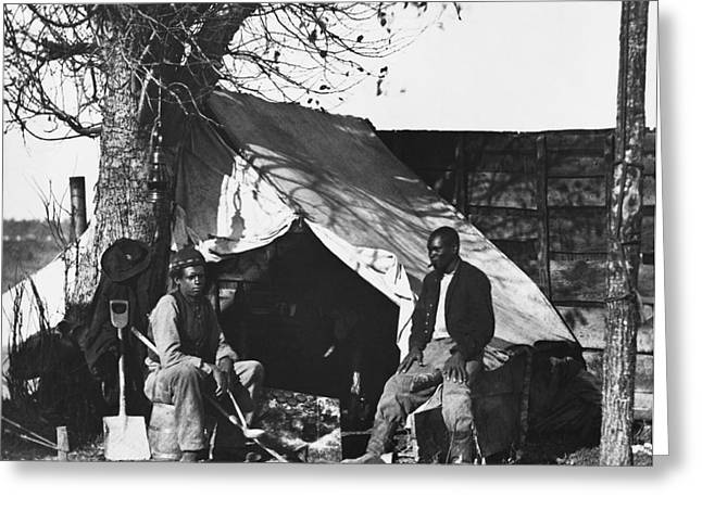 Slaves Greeting Cards - American Civil War, Contraband Greeting Card by Photo Researchers