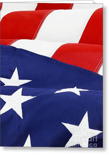 American Flag Greeting Card by Stephanie Frey