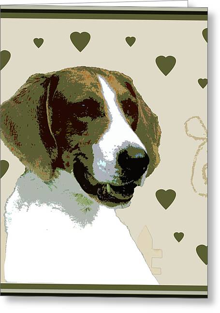 American Fox Hound Greeting Card by One Rude Dawg Orcutt